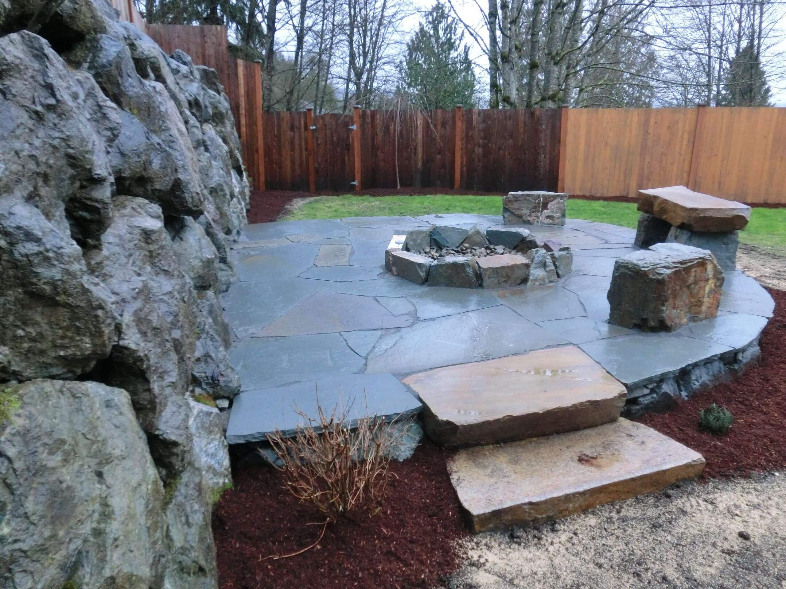 Redmond Outdoor Slate Patio Fireplace